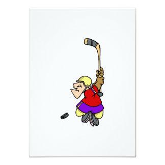 Tiro en suspensión del hockey anuncio personalizado