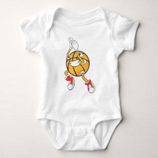 Tiro en suspensión lindo del baloncesto del body para bebé