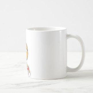 Tiro en suspensión lindo del baloncesto del taza de café