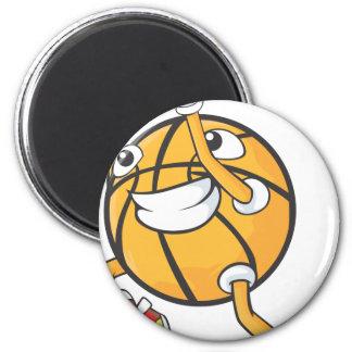 Tiro en suspensión lindo del baloncesto del tirote imán redondo 5 cm