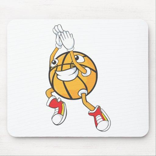 Tiro en suspensión lindo del baloncesto del tirote tapetes de ratón