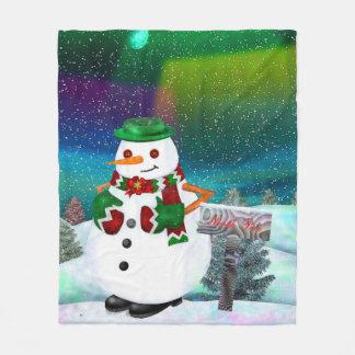 TIRO escarchado de la DECORACIÓN del navidad de la Manta De Forro Polar