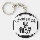 Tiro la cámara B&W del fotógrafo retro de la gente Llavero