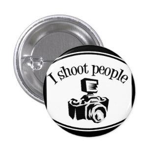 Tiro la cámara B&W del fotógrafo retro de la gente Pin Redondo De 1 Pulgada