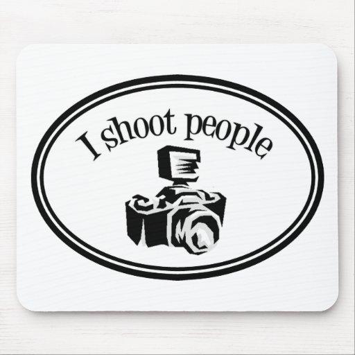 Tiro la cámara B&W del fotógrafo retro de la gente Tapete De Ratón
