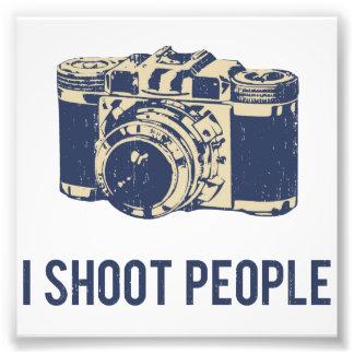 Tiro la cámara de la fotografía de la gente cojinete