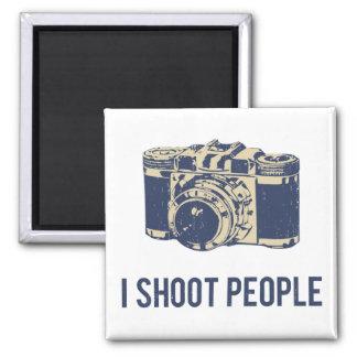 Tiro la cámara de la fotografía de la gente imán cuadrado