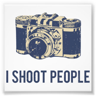Tiro la cámara de la fotografía de la gente impresion fotografica