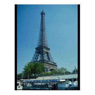 Tiro largo de la torre Eiffel Postal