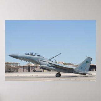 Tiro lateral del aterrizaje de F-15S Eagle 9214 Impresiones