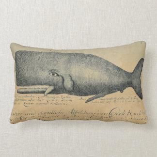 Tiro lumbar del vintage de la ballena de marfil de cojín