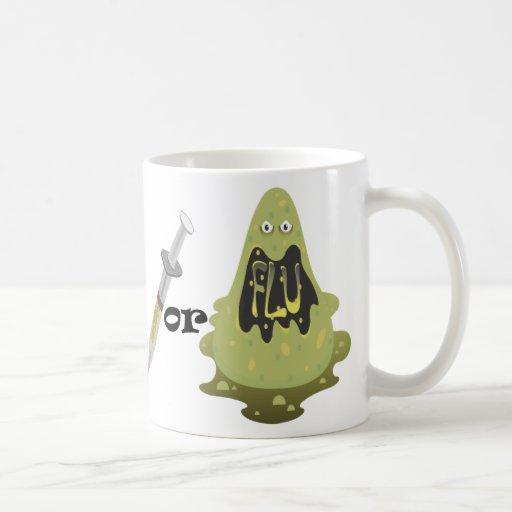Tiro o gripe taza de café