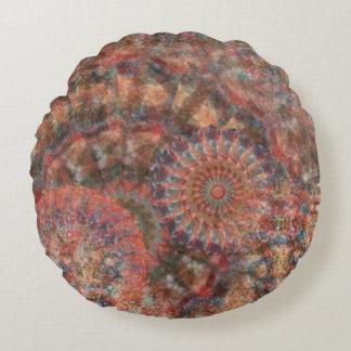 Tiro redondo tallado de la decoración del extracto cojín redondo