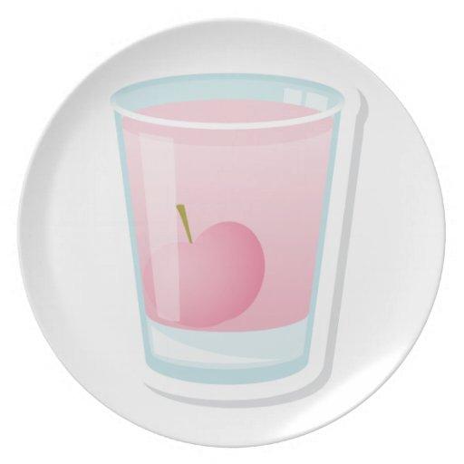 Tiro rosado con la cereza platos de comidas