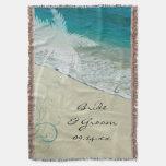 Tiro tropical del boda de playa manta