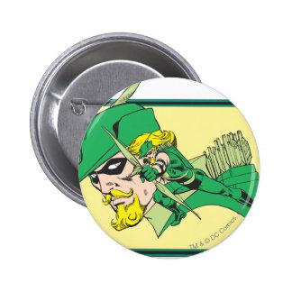 Tiro verde de la cabeza de la flecha pin redondo de 2 pulgadas