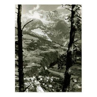 Tirol snowy mountains postcard