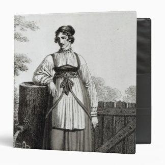 Tirollian Peasant Girl, 1817 3 Ring Binder