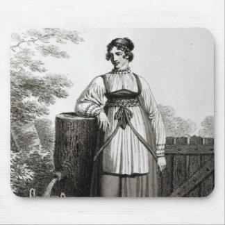 Tirollian Peasant Girl, 1817 Mousepad