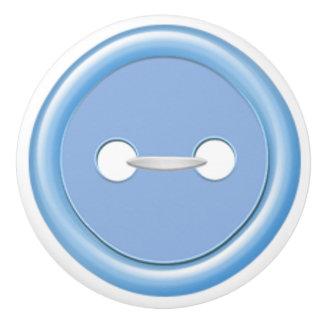 Tirón azul del cajón del botón pomo de cerámica