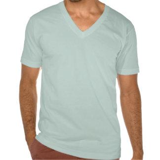 Tirón con cuello de pico de los tontos de la camiseta