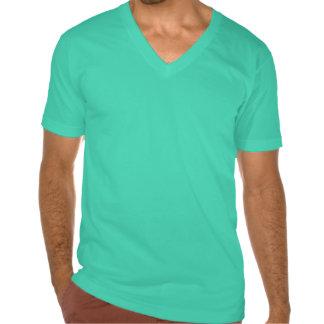Tirón con cuello de pico de los tontos de la camisetas