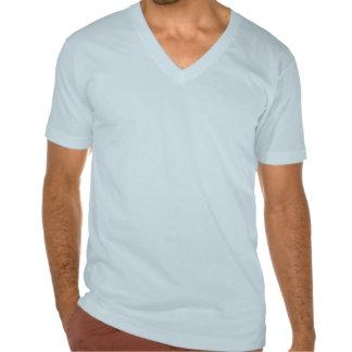 Tirón con cuello de pico del tiroteo camisetas