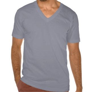 Tirón con cuello de pico del tiroteo camiseta