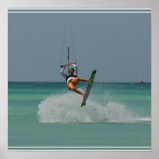 Tirón de Kitesurfing Poster