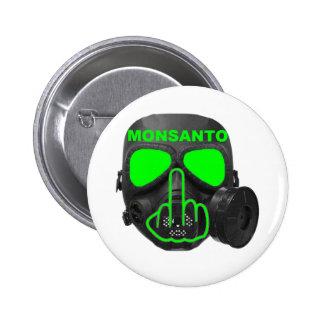 Tirón de la careta antigás de Monsanto del botón