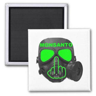 Tirón de la careta antigás de Monsanto del imán