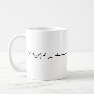 Tirón de la tabla que mueve de un tirón el Emotico Taza De Café
