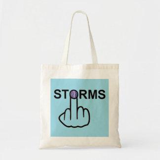 Tirón de las tormentas del bolso bolsas