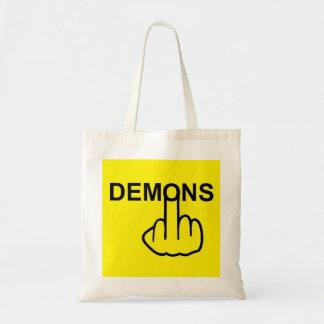 Tirón de los demonios del bolso bolsas