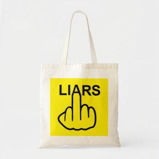 Tirón de los mentirosos del bolso bolsa tela barata