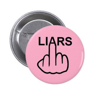 Tirón de los mentirosos del botón pins