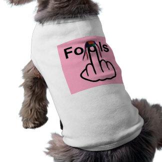 Tirón de los tontos de la ropa del perro playera sin mangas para perro