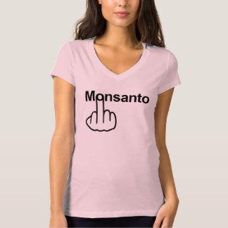 Tirón de Monsanto de la camiseta Poleras