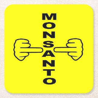 Tirón de Monsanto del práctico de costa Posavasos Desechable Cuadrado
