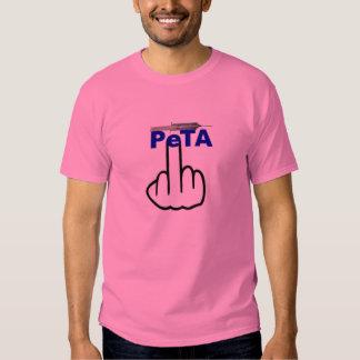 Tirón de Peta de la camiseta Camisas