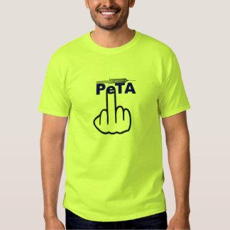 Tirón de Peta de la camiseta Poleras