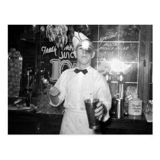 Tirón de soda, los años 30 postales