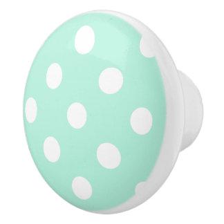 Tirón del botón/del cajón de los lunares de la pomo de cerámica