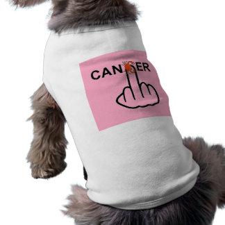 Tirón del cáncer de la ropa del perro playera sin mangas para perro