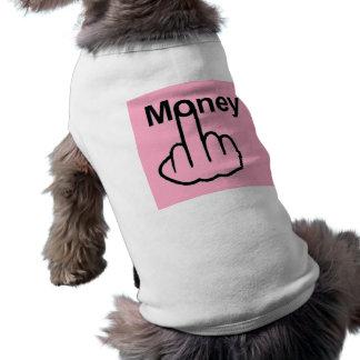 Tirón del dinero de la ropa del perro playera sin mangas para perro