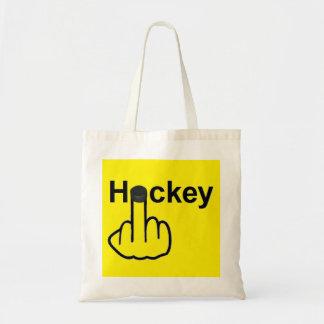 Tirón del hockey del bolso bolsa tela barata