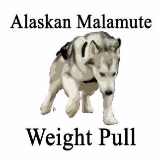 Tirón del peso del Malamute de Alaska Fotoescultura Vertical