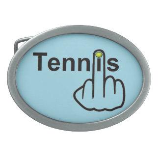 Tirón del tenis de la hebilla del cinturón hebilla de cinturón oval