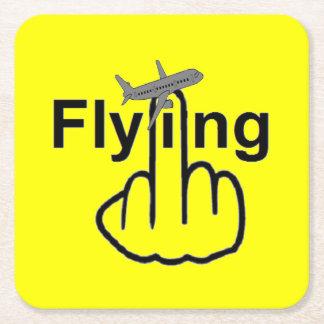 Tirón del vuelo del práctico de costa posavasos personalizable cuadrado