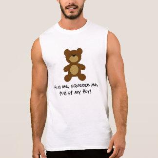 Tirón en mi oso gay de la piel remeras sin mangas